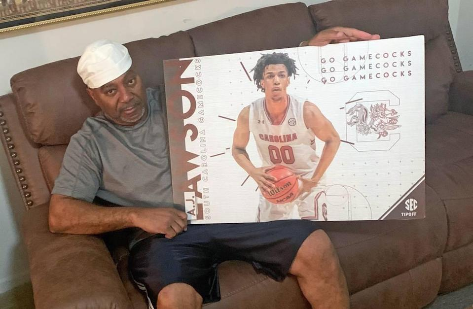Before A.J. Lawson left recently to return to Canada, he gave his uncle Jerome Lawson a going-away gift.