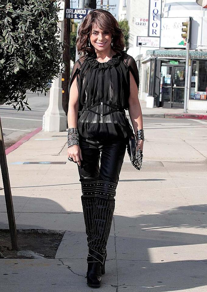 "If Paula Abdul wears unflattering, age-inappropriate outfits like this to job interviews, she'll likely be unemployed for quite some time. Andrew Shawaf/Gaz Shirley/<a href=""http://www.pacificcoastnews.com/"" target=""new"">PacificCoastNews.com</a> - December 10, 2009"