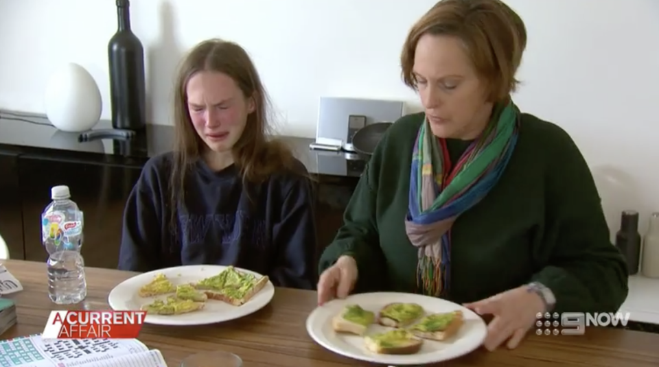 Chloe and her mother Melinda both struggle during meal times. Source: A Current Affair