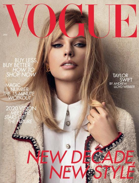 Taylor Swift on cover of British Vogue's January 2020 issue (Vogue/PA Wire)