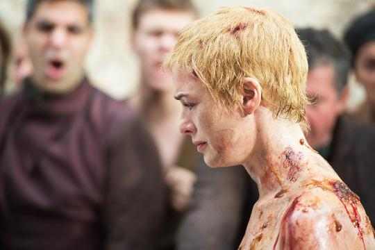 """<p>Shame! Shame! Shame! Really, shame on <i>you</i> if you missed this chilling, intense sequence from <i>Game of Thrones</i>'s Season 5 finale. For the sin of adultery with her cousin, Cersei Lannister (Lena Headey) was forced to walk naked through King's Landing. As she made her way across the city, crowds jeered and leered and threw things at the former queen — all while an accompanying septa shouted """"Shame!"""" over and over again. The scene left your skin crawling, and made you feel something you never thought you would for Cersei — pity. <i>— KW</i></p><p><i>(Credit: HBO)</i></p>"""