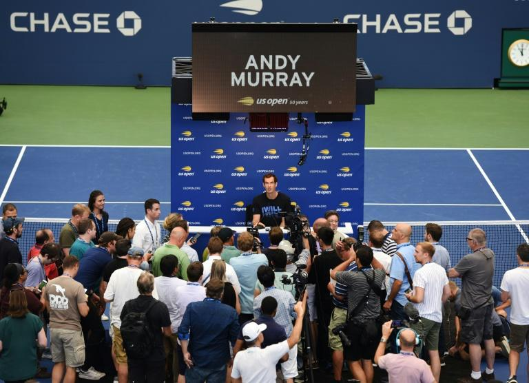In demand, in doubt: Andy Murray talks to the press on Friday