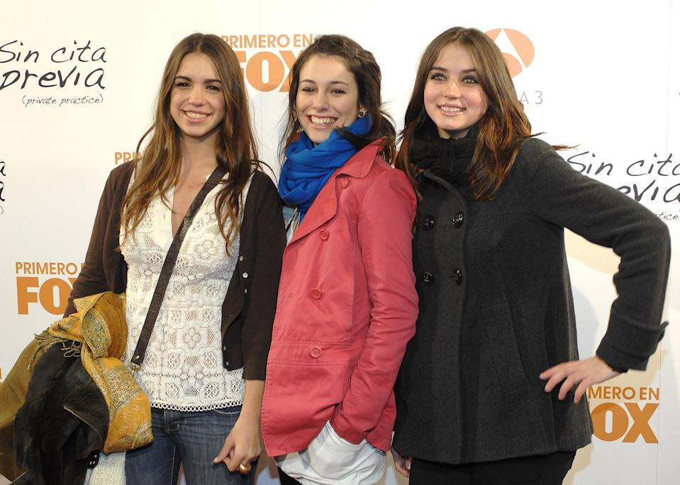 MADRID, SPAIN - DECEMBER 17:  Actresses Elena Furiase, Blanca Suarez and Ana de Armas attend Private Practice special screening at Capitol Cinema on December 17, 2007 in Madrid, Spain  (Photo by Lalo Yasky/WireImage)  *** Local Caption ***