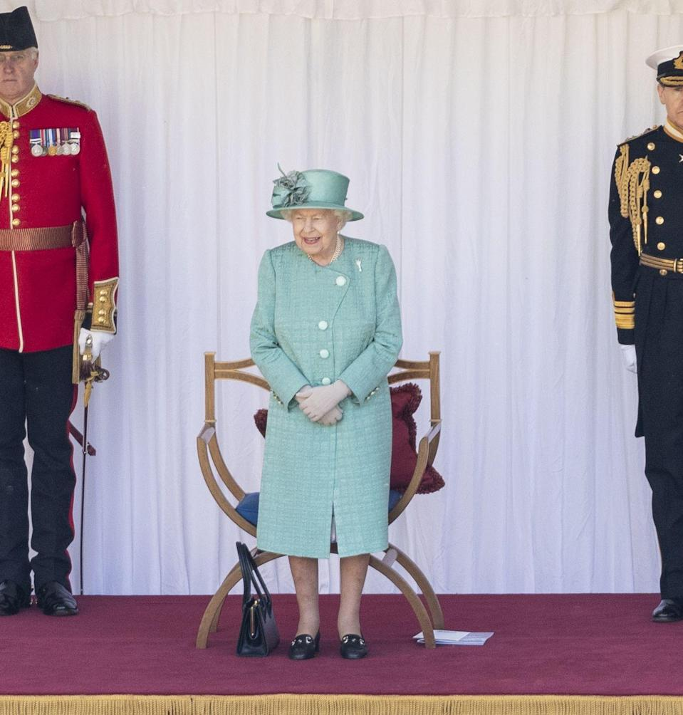 <p>It seemed as though Queen Elizabeth was incredibly happy with the special ceremony held in her honor at Windsor Castle in place of Trooping the Colour. </p>