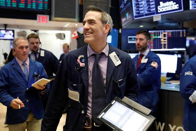 Traders and investors have had a lot to be happy about in 2018. And history suggests a government shutdown isn't likely to derail the rally we've seen to start the year. REUTERS/Lucas Jackson