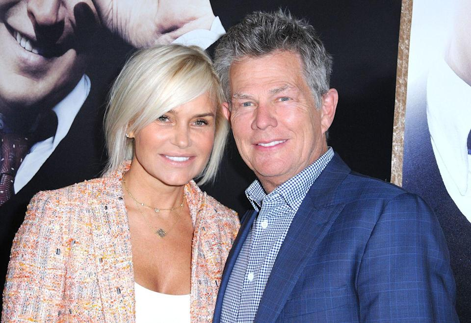 """<p>Composer and musician David Foster has been married <a href=""""https://www.usmagazine.com/celebrity-news/pictures/celebrities-who-have-been-married-three-times-or-more-201495/"""" rel=""""nofollow noopener"""" target=""""_blank"""" data-ylk=""""slk:five times"""" class=""""link rapid-noclick-resp"""">five times</a>. He was previously married to singer B.J. Cook from 1972 to 1981, actress Rebecca Dyer from 1982 to 1986, actress Linda Thompson from 1991 to 2005, model <a href=""""https://www.womenshealthmag.com/health/a29430528/yolanda-hadid-lyme-disease-remission/"""" rel=""""nofollow noopener"""" target=""""_blank"""" data-ylk=""""slk:Yolanda Hadid"""" class=""""link rapid-noclick-resp"""">Yolanda Hadid</a> (mom to <a href=""""https://www.womenshealthmag.com/life/a33806708/gigi-hadid-zayn-malik-final-pregnancy-days-update/"""" rel=""""nofollow noopener"""" target=""""_blank"""" data-ylk=""""slk:Gigi"""" class=""""link rapid-noclick-resp"""">Gigi</a> and <a href=""""https://www.womenshealthmag.com/life/a19910621/bella-hadid-relationship/"""" rel=""""nofollow noopener"""" target=""""_blank"""" data-ylk=""""slk:Bella Hadid"""" class=""""link rapid-noclick-resp"""">Bella Hadid</a>) from 2011 to 2017, and most recently wed singer and actress Katharine McPhee in 2019.<br></p>"""