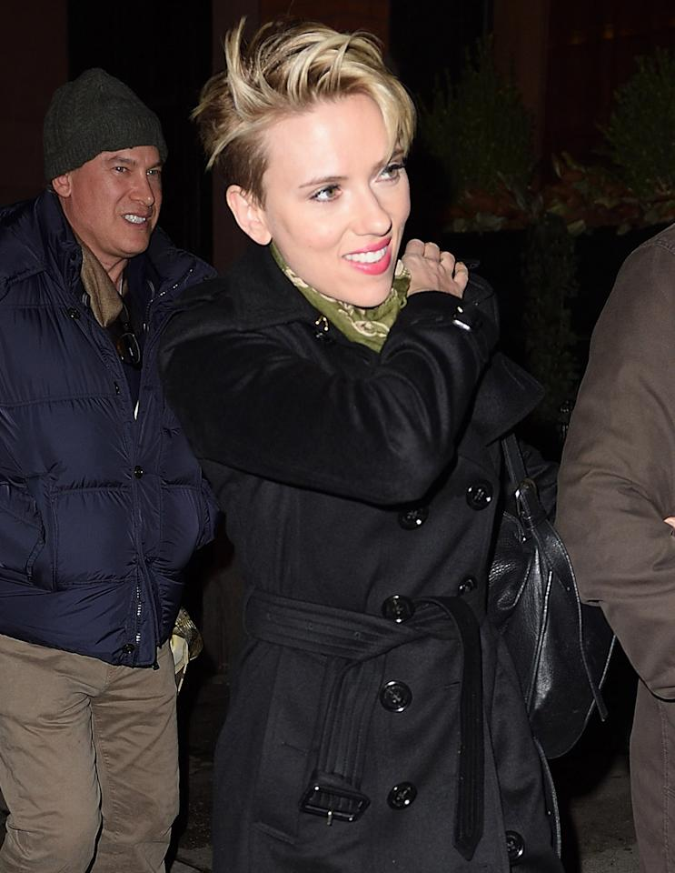 Scarlett Johansson heads to theSaturday Night Live afterparty after hosting the sketch show in New York City.