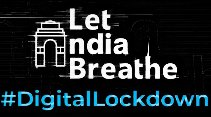 "The environmental collective LetIndiaBreathe prepared this poster in protest against the blocking of its website. Calling it internet censorship and a digital lockdown, the collective has demanded that its website be unblocked. (Photo: <a href=""https://www.facebook.com/letindiabreathe.in"" target=""_blank"">HuffPost India </a>)"