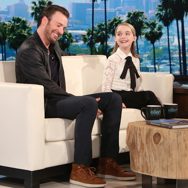 Chris Evans Forced to Tap Dance on Ellen by His 10-Year-Old Costar