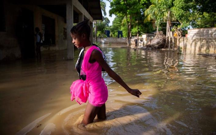 Tropical Storm Laura is expected to make landfall in the US this week - Dieu Nalio Chery/AP