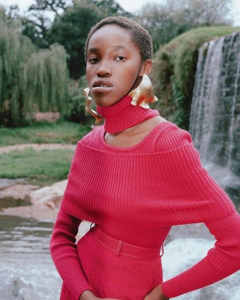 """<p>Who: Thebe Magugu</p><p>What: 'Sleek, forward-looking design intersects with motifs from our continent's storied past, providing smart, multifaceted clothes as valuable as their woman.'</p><p><a class=""""link rapid-noclick-resp"""" href=""""https://www.net-a-porter.com/en-gb/shop/designer/thebe-magugu"""" rel=""""nofollow noopener"""" target=""""_blank"""" data-ylk=""""slk:SHOP THEBE MAGUGU NOW"""">SHOP THEBE MAGUGU NOW</a></p><p><a href=""""https://www.instagram.com/p/CAslQYvDLX2/"""" rel=""""nofollow noopener"""" target=""""_blank"""" data-ylk=""""slk:See the original post on Instagram"""" class=""""link rapid-noclick-resp"""">See the original post on Instagram</a></p>"""