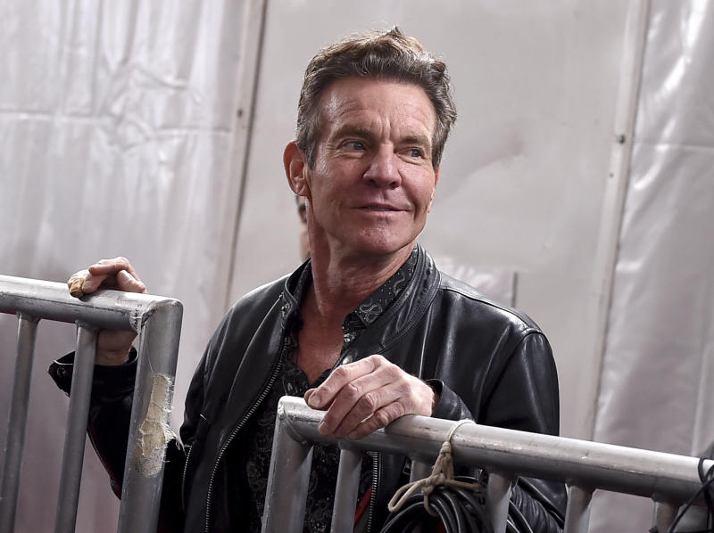 Dennis Quaid arrives at the 62nd annual Grammy Awards at the Staples Center on Sunday, Jan. 26, 2020, in Los Angeles. (Photo by Jordan Strauss/Invision/AP)