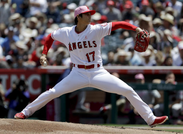 Shohei Ohtani turned in yet another dominant start Sunday. (AP Photo)