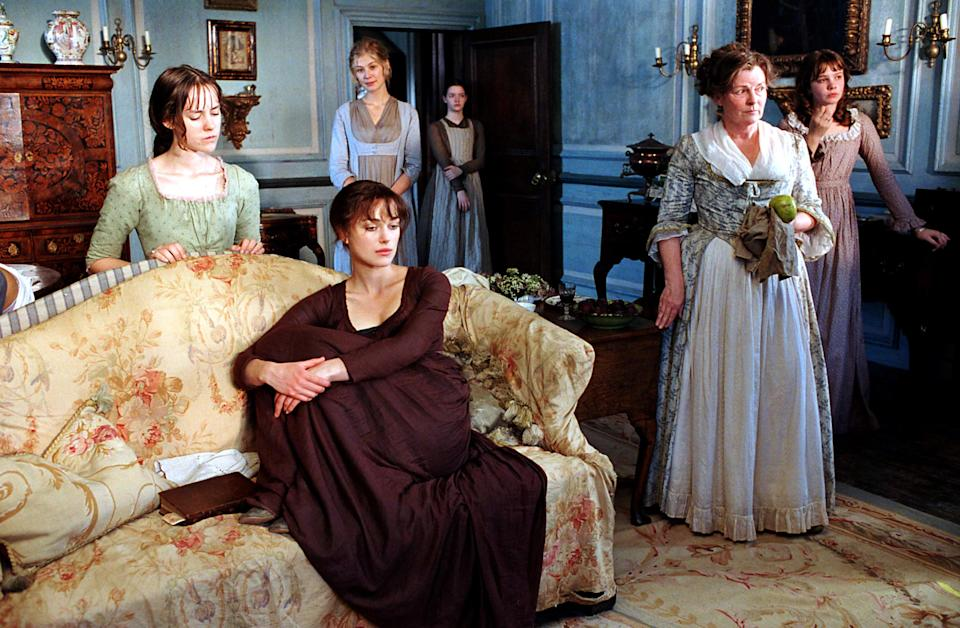 The relationship: Jane (Rosamund Pike),Elizabeth (Keira Knightley), Mary (Talulah Riley), Kitty (Carey Mulligan), and Lydi (Jena Malone)What's their deal: As they come of age, the Bennet sisters are given one primary goal in life: to find as wealthy of a husband as possible so they can achieve greater social status. Along the way, they try to find their own place in the world that may go beyond these very strict and simple guidelines they've been given.Why you'll call your sister:Growing up in a family with a lot of siblings basically means forming your own mini community with its own set of rules and values that may have differed with the outside world. And while each of the Bennets experiences their own unique journey into the world of courtship, the sisters act as a support system to cheer each other on when things go right and console each other when things go wrong.Watch it on Amazon Prime with Cinemax.