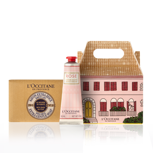 """<p><strong>'l''occitane'</strong></p><p>loccitane.com</p><p><strong>$24.50</strong></p><p><a href=""""https://go.redirectingat.com?id=74968X1596630&url=https%3A%2F%2Fwww.loccitane.com%2Fen-us%2Frose-care-package-NAOCVKI002602.html&sref=https%3A%2F%2Fwww.countryliving.com%2Flife%2Fg32121918%2Fstepmom-gift-ideas%2F"""" rel=""""nofollow noopener"""" target=""""_blank"""" data-ylk=""""slk:Shop Now"""" class=""""link rapid-noclick-resp"""">Shop Now</a></p><p>Give her hands some TLC with this adorable rose-themed mini care package that includes a luxuriously thick hand cream and a gentle bar of soap. Build out the gift by sending a beautiful rose arrangement in her favorite color.</p>"""