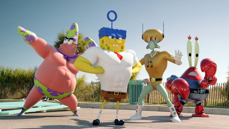 SpongeBob characters entered the live-action world in 2015 film 'The SpongeBob Movie: Sponge Out of Water'. (Credit: Paramount)
