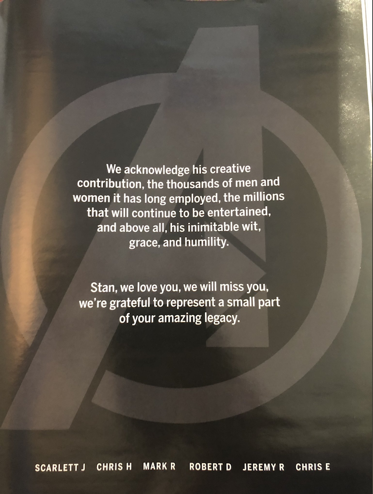 The touching advert appeared in The Hollywood Reporter.