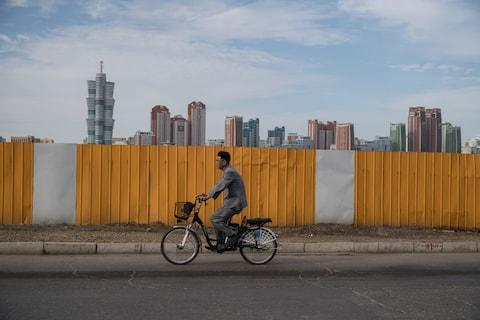 Colourful skyscrapers in Pyongyang - Credit: GETTY