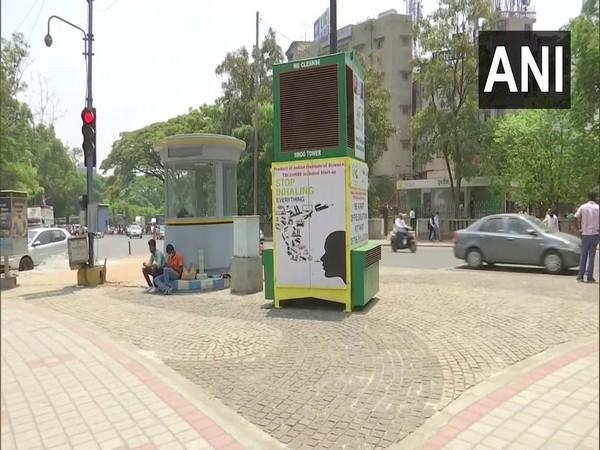 Bengaluru installed a 'smog tower' at Hudson Circle that uses nanotechnology to purify the air. (Photo/ANI)