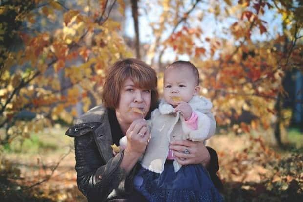 Anna Ermakova in an undated photo with her granddaughter. (Facebook/Galina Ermakova - image credit)