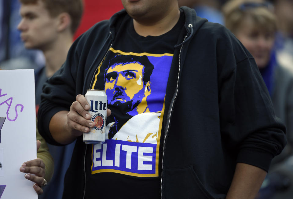 The end of the Flacco era is upon us. (AP Photo/Nick Wass)