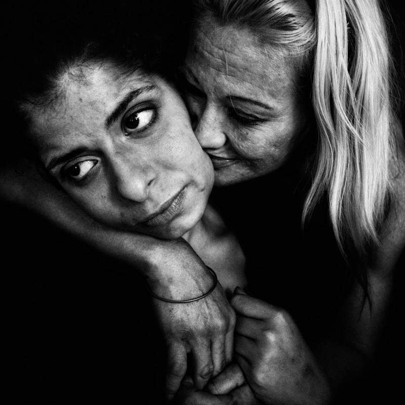 Award-winning photographer Lee Jeffries immortalized Lawson, then known as Margo Stevens.