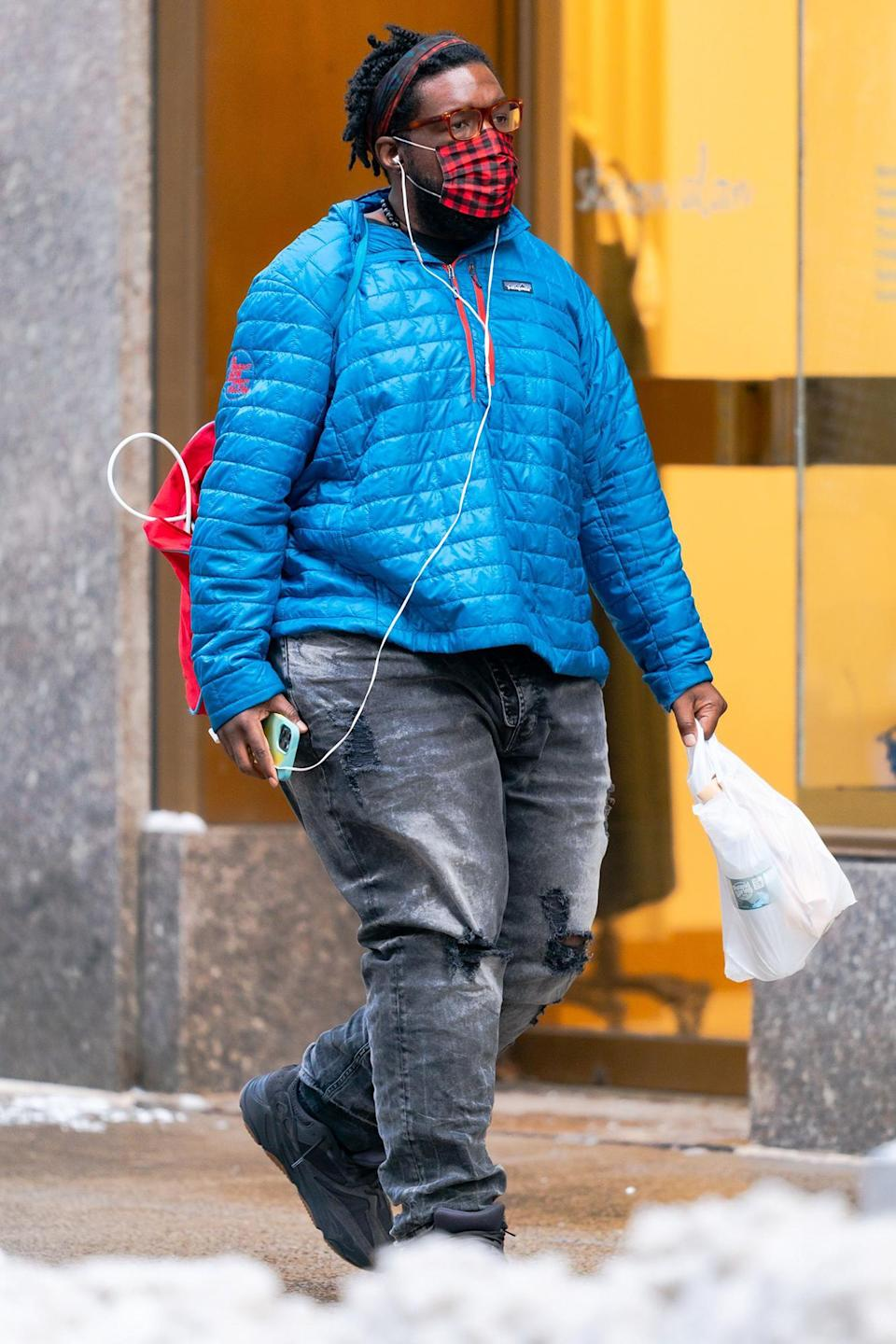 <p>Questlove was spotted taking a stroll in New York City.</p>