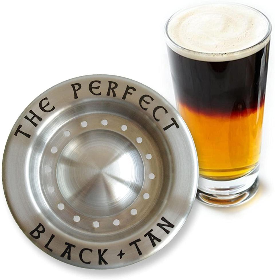 <p>Did you know you can create cocktails with beer? With <span>The Perfect Black And Tan Beer Layering Tool for Beer Cocktails</span> ($10), you'll be able to experiment and serve a new type of drink.</p>