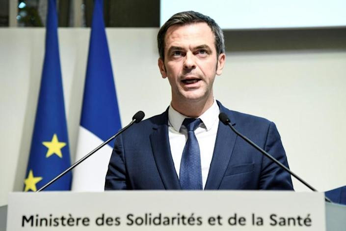 """French health minister Olivier Veran (pictured March 6, 2020) warned that the use of ibuprofen and similar anti-inflammatory drugs could be """"an aggravating factor"""" in COVID-19 infections (AFP Photo/Bertrand GUAY)"""
