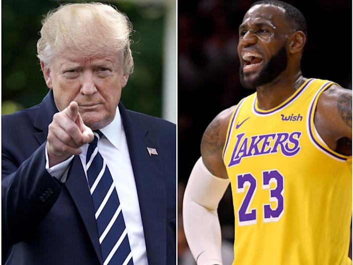Former president Donald Trump made a joke at LeBron James' expense at his rally in Phoenix (Getty Images)