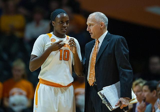 <p><strong>36. Tennessee</strong><br>Top 2017-18 sport: women's swimming. Trajectory: Up. The Volunteers rebounded from a disappointing 2016-17 year to improve 11 spots this season, up to 35th. They got a combined 138 points from their swimming programs and 100 from basketball, highlighting a strong winter sports run. </p>