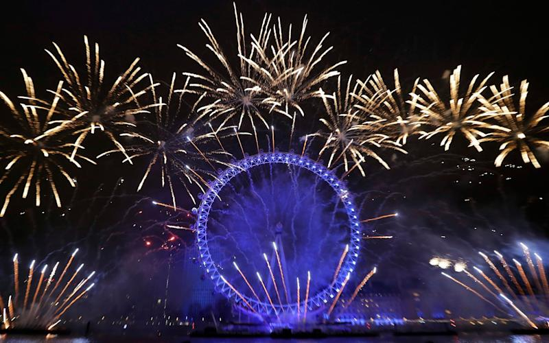 The dramatic London fireworks display on New Year's Eve last year - Kirsty Wigglesworth/AP
