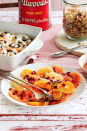 """<p>This refreshing citrus salad is the perfect brunch dish with its nutty granola and sweet honey drizzle. Top with pomegranate seeds for a delightful crunch in each bite.</p><p><strong><a href=""""https://www.countryliving.com/food-drinks/a29628208/honey-drizzled-citrus-salad-with-pistachio-poppy-seed-granola-recipe/"""" rel=""""nofollow noopener"""" target=""""_blank"""" data-ylk=""""slk:Get the recipe"""" class=""""link rapid-noclick-resp"""">Get the recipe</a>.</strong></p><p><strong><a class=""""link rapid-noclick-resp"""" href=""""https://www.amazon.com/Sweese-12-inch-Porcelain-Rectangular-Serving/dp/B07J5SHY53/ref=sr_1_1?tag=syn-yahoo-20&ascsubtag=%5Bartid%7C10050.g.2144%5Bsrc%7Cyahoo-us"""" rel=""""nofollow noopener"""" target=""""_blank"""" data-ylk=""""slk:SHOP SERVING PLATES"""">SHOP SERVING PLATES</a><br></strong></p>"""