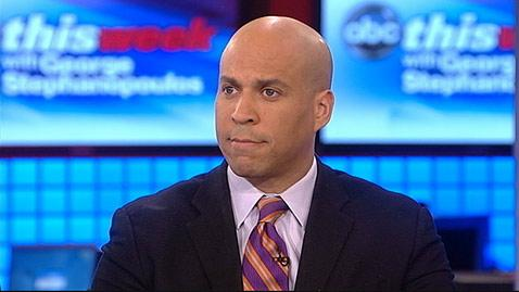 abc cory booker this week jt 130331 wblog Cory Booker Jokes Mayor Job Drove Him to Drink Coffee That Is