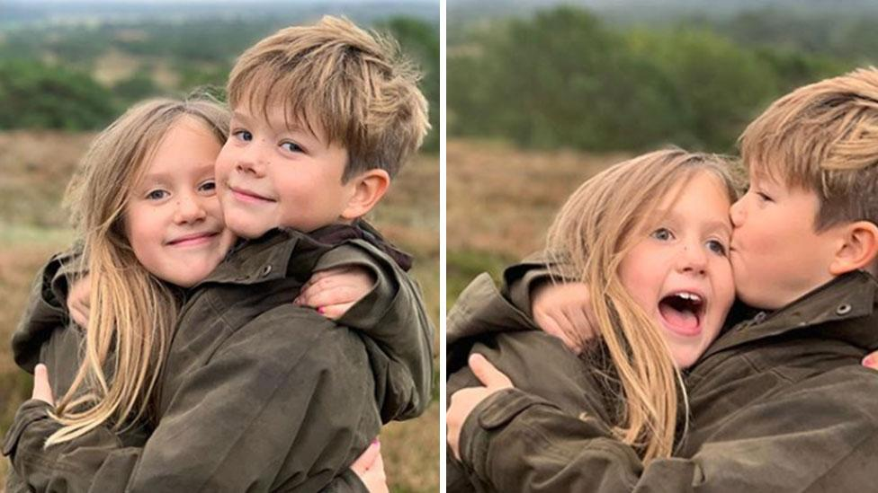 January 2020: Mary and Frederik's twins Josephine and Vincent cuddle up to celebrate their ninth birthday. Photo: Instagram/detdanskekongehus.