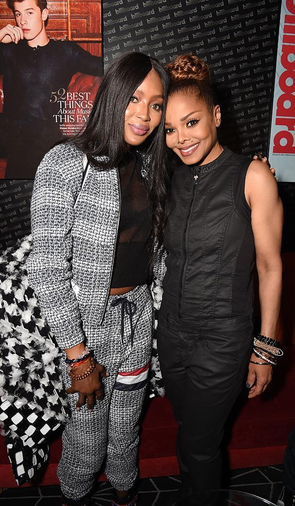 <p>After watching Janet tear up the stage at Barclay's Center in Brooklyn on Wednesday, the supermodel got to chill out at the after party with Miss Jackson (if you're nasty). (Photo: Kevin Mazur/Getty Images for Juggernaut Productions, Inc.) </p>