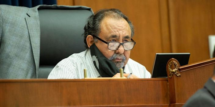 House Natural Resources Committee Chairman Raul Grijalva (D-Ariz.) is seen during a House Natural Resources Committee hearing, on Capitol Hill in Washington, on June 29, 2020.