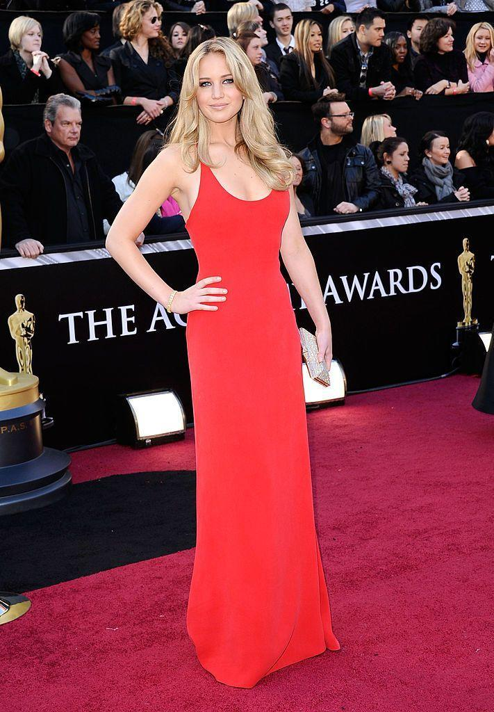 <p>Lawrence first attended the Oscars - wearing a red Calvin Klein dress - after receiving her first nomination for Winter's Bone. She's since been nominated three more times and won in 2013 for Silver Lining's Playbook.</p>