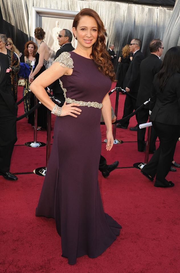 Actress Maya Rudolph arrives at the 84th Annual Academy Awards held at the Hollywood & Highland Center on February 26, 2012 in Hollywood, California. (Photo by Steve Granitz/WireImage)