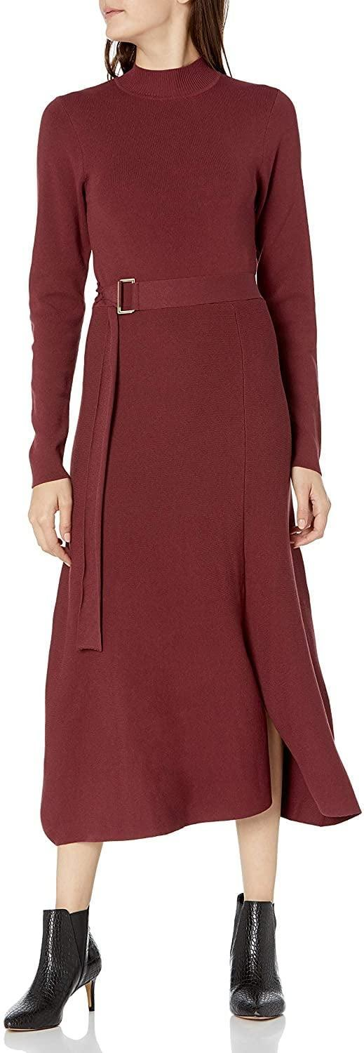 <p>This brand-new <span>The Drop Odette Long-Sleeve Mock-Neck Belted Swing Maxi Dress</span> ($60) also comes in black.</p>