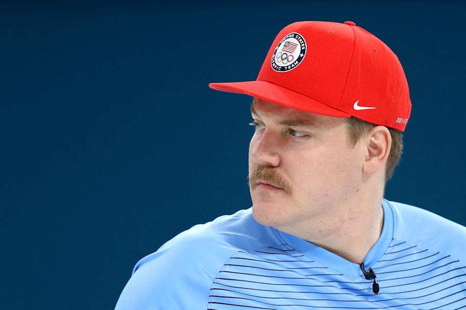 <p>American curler Matt Hamilton hasn't had quite the Games he had hoped for. The Wisconsin native, who competed in mixed doubles with his sister, looks set to head home medaless. But apart from a meme comparing him to Super Mario, he will be fondly remembered for his might, midwestern face fitting. (Getty) </p>