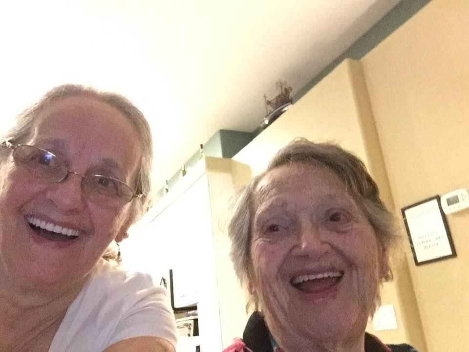 After she was falsely told her baby had died in childbirth, Florida resident Genevieve Purinton, 88, met her 69-year-old daughter, Connie Moultroup, for the first time. (Photo: Courtesy of Connie Moultroup)