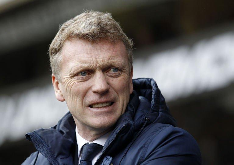 David Moyes at White Hart Lane in London on April 7, 2013