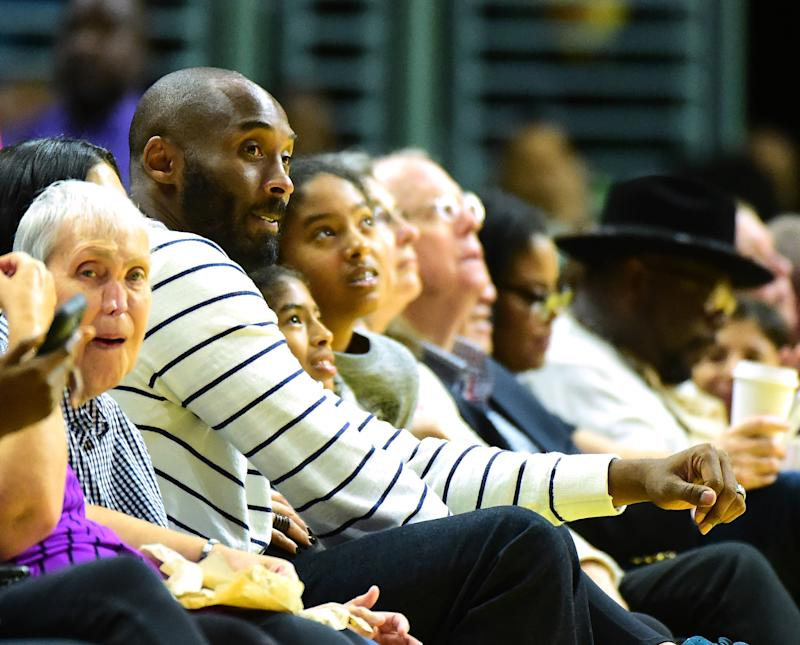Kobe Bryant attended WNBA games on a routine basis, including the 2016 Finals. (Photo by Harry How/Getty Images)