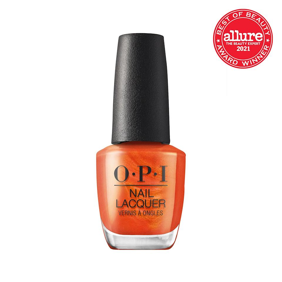 A dazzling tangerine that reflects every kind of light, <strong>OPI Nail Lacquer in PCH Love Song</strong> is like brushing on the sunset.