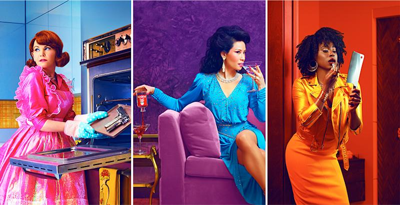 Ginnifer Goodwin, Lucy Liu and Kirby Howell-Baptiste star in the new CBS All Access show, Why Women Kill.