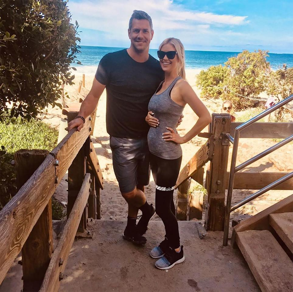 """""""Thousand steps workout with the hubby"""" was how the <a href=""""https://www.instagram.com/p/Bv9pID1j0-o/"""">mom-to-be kept moving</a> on April 7."""