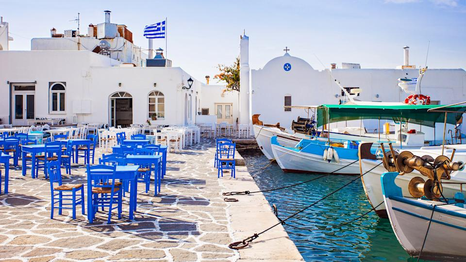 Greece, Greek fishing village in Paros, How Much to Tip When Traveling to These 25 Countries, Naousa