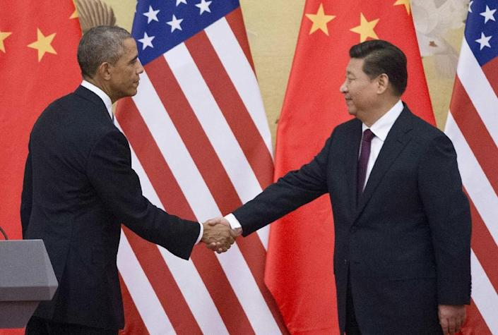US President Barack Obama (left) held talks with his Chinese counterpart Xi Jinping during a 2014 visit to Beijing (AFP Photo/Mandel Ngan)