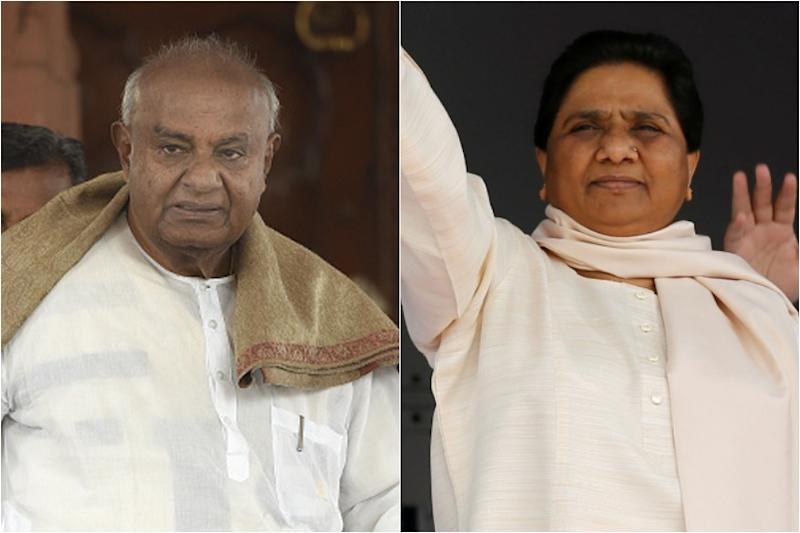 Gowda's Woman With Paddy Stack to March With Mayawati's Elephant in Karnataka